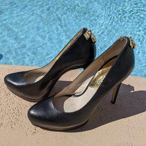 Michael Kors Black Platform Pump Heels